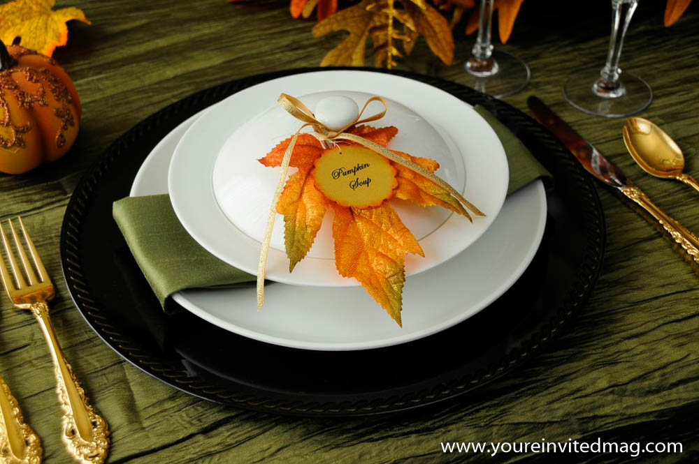 Pumpkin soup bowl